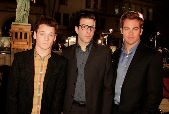 Anton Yelchin, Zachary Quinto e Chris Pine