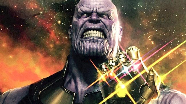 Thanos col Guanto dell'Infinito in Avengers: Infinity War