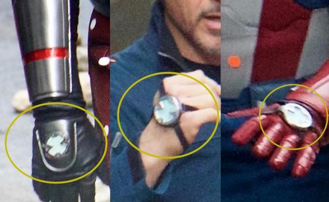 Gli strani congegni sulle mani degli Avengers nel loro quarto film