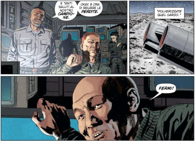 I soldati sulla base Luna in Aliens #5
