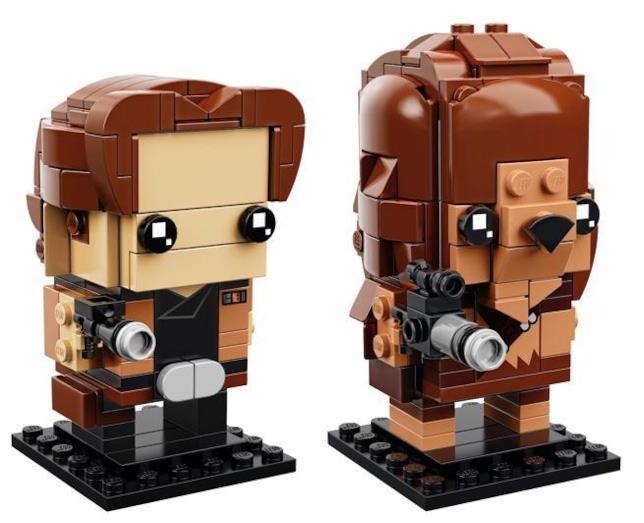 Dettagli sui due set di LEGO di Solo e Chewbacca della linea Brickheadz