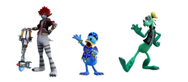 Sora, Pippo e Paperino in versione Monsters, Inc.