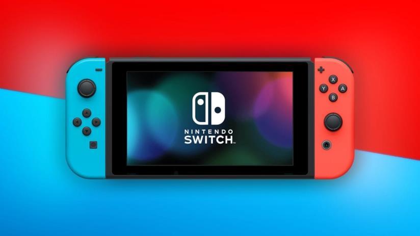 Nintendo Switch in un'immagine promozionale per la colorazione neon