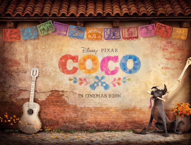 Il teaser poster di Coco con il cane Dante
