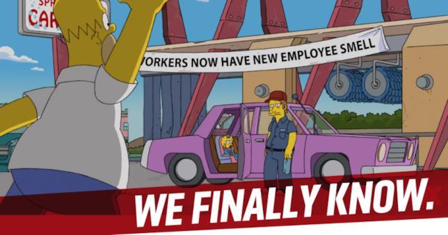 Un episodio di gennaio 2017 svela il nome dell'auto dei Simpson