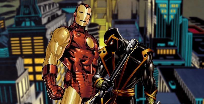 Iron Man con armatura Mark 85 e Ronin