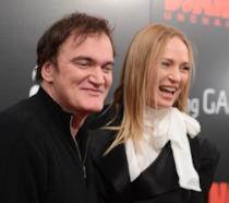 Uma Thurman e Quentin Tarantino a un evento di anni fa