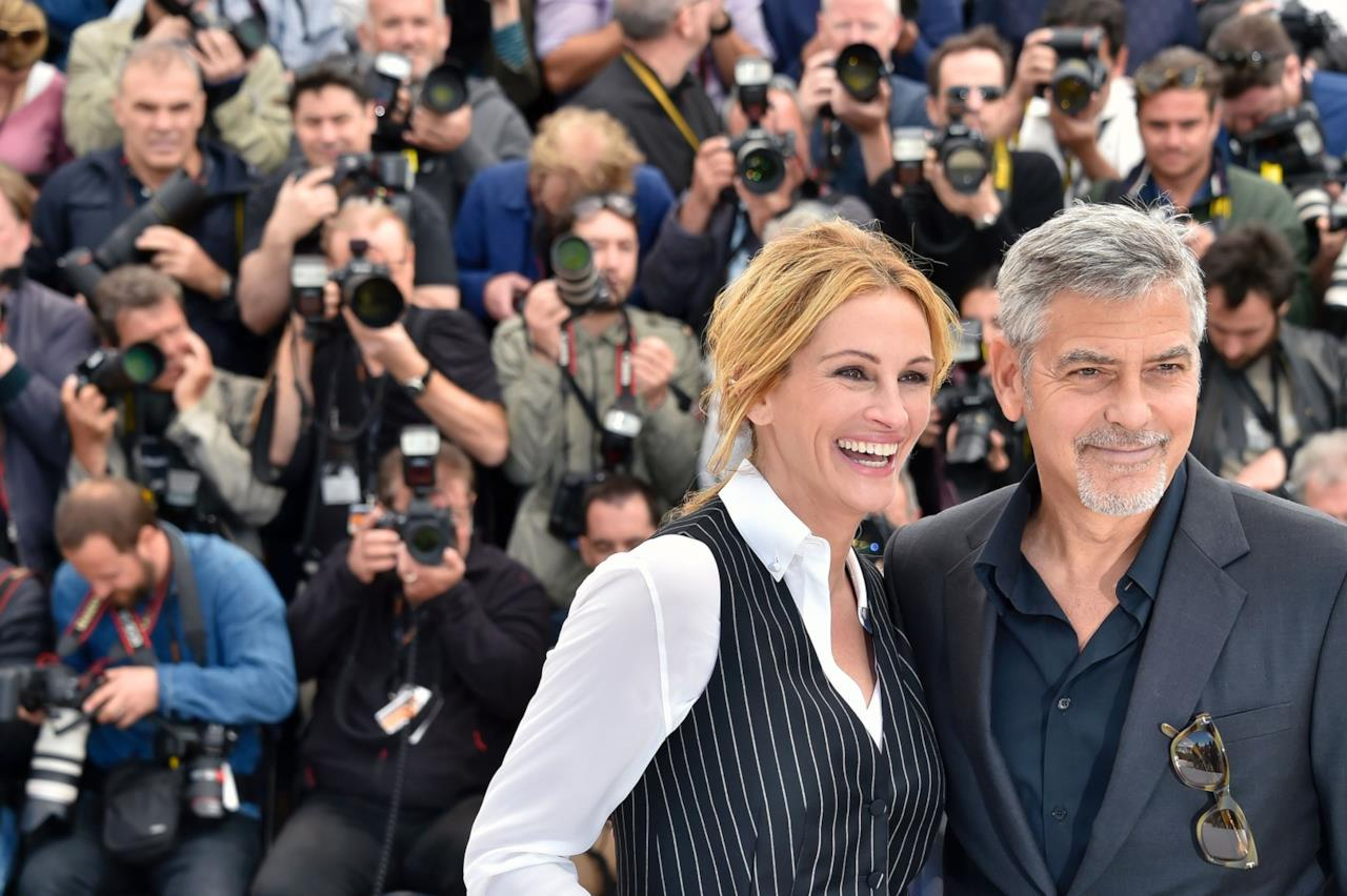 Julia Roberts e George Clooney al photocall di Money Monster