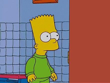Bart e Homer in I Simpson