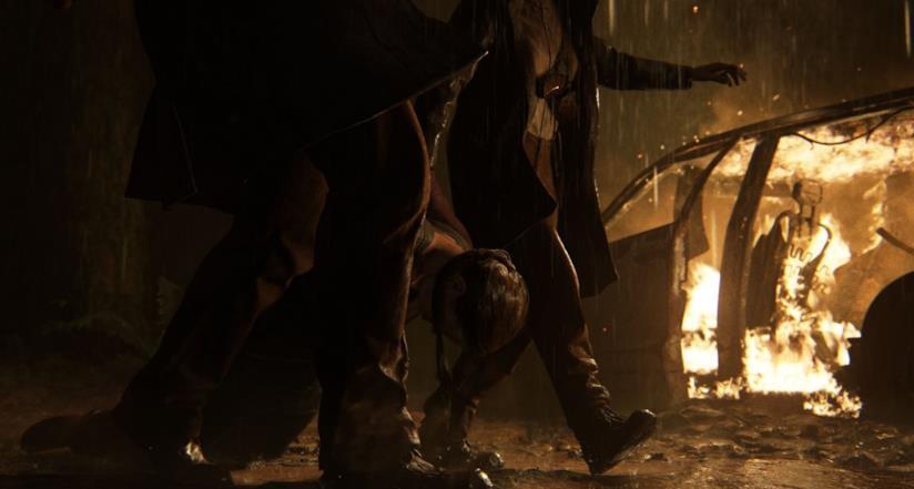 Ellie catturata in The Last of Us Part II