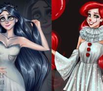 Rapnzel e Ariel in versione Halloween