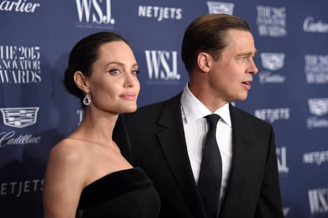 Angelina Jolie e Brad Pitt ai tempi del loro matrimonio