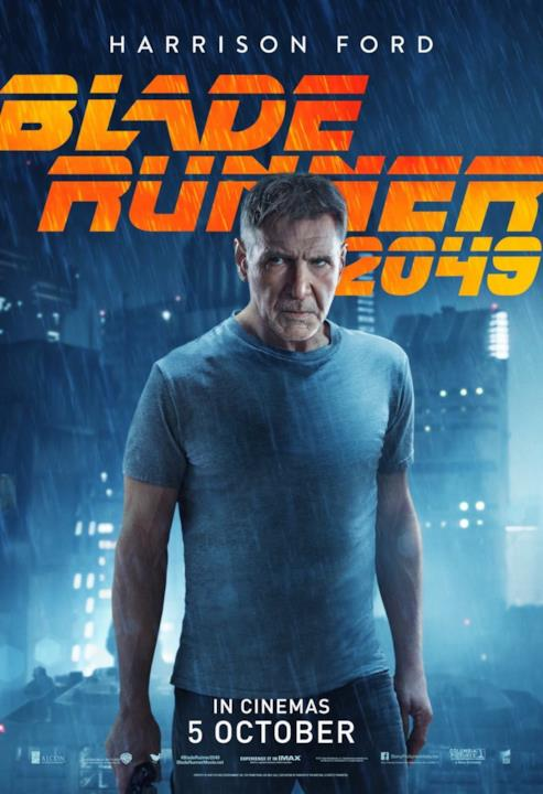 Le locandine individuali di Blade Runner 2049