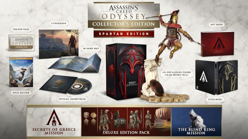 La Spartan Edition di Assassin's Creed Odyssey in uscita il 5 ottobre