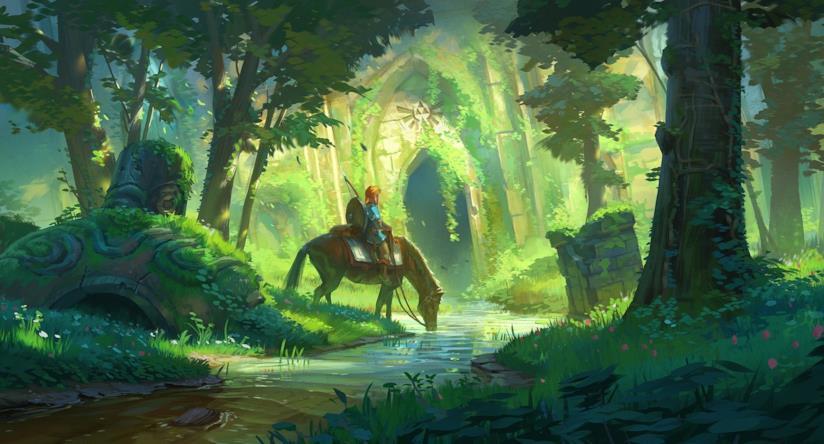 Uno splendido artwork di The Legend of Zelda: Breath of the Wild