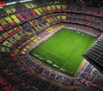 Uno degli stadi di PES 2018 visto dall'alto