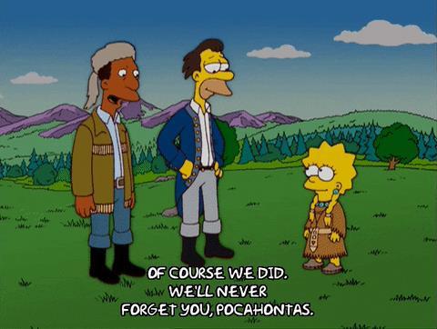 I Simpson citazione Pocahontas