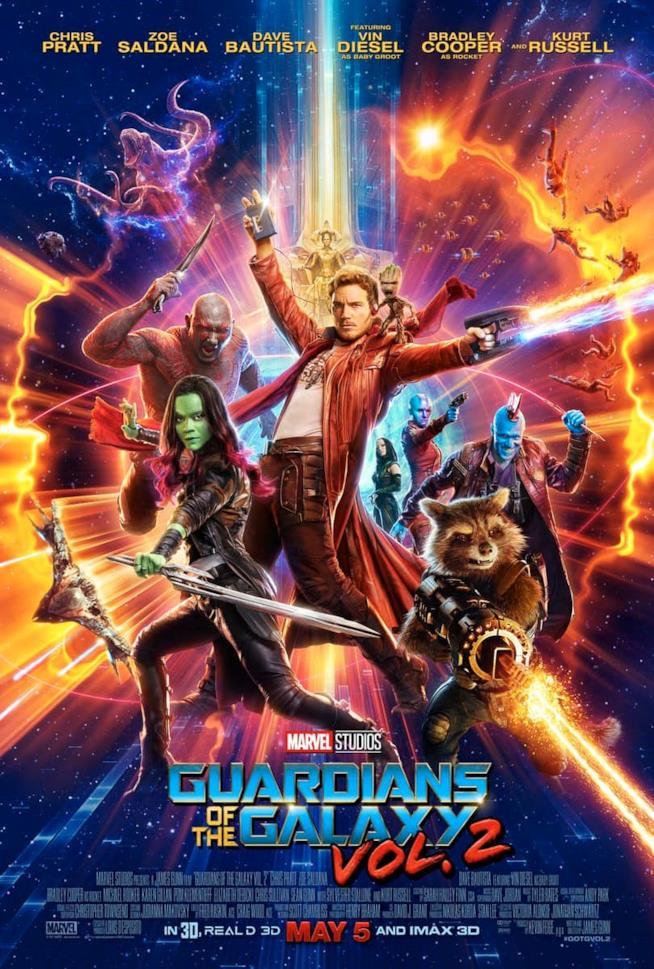 Il nuovo poster di Guardiani della Galassia Vol. 2