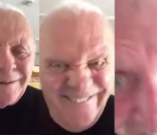 Collage di Anthony Hopkins che balla
