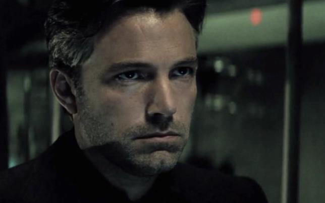 Primo piano di Ben Affleck nel ruolo di Batman