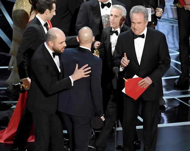 Il momento dell'errore nell'assegnazione del premio come Miglior Film