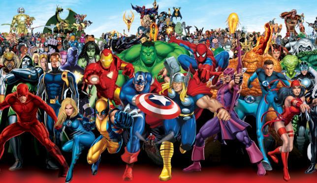 Gli eroi Marvel riuniti in foto