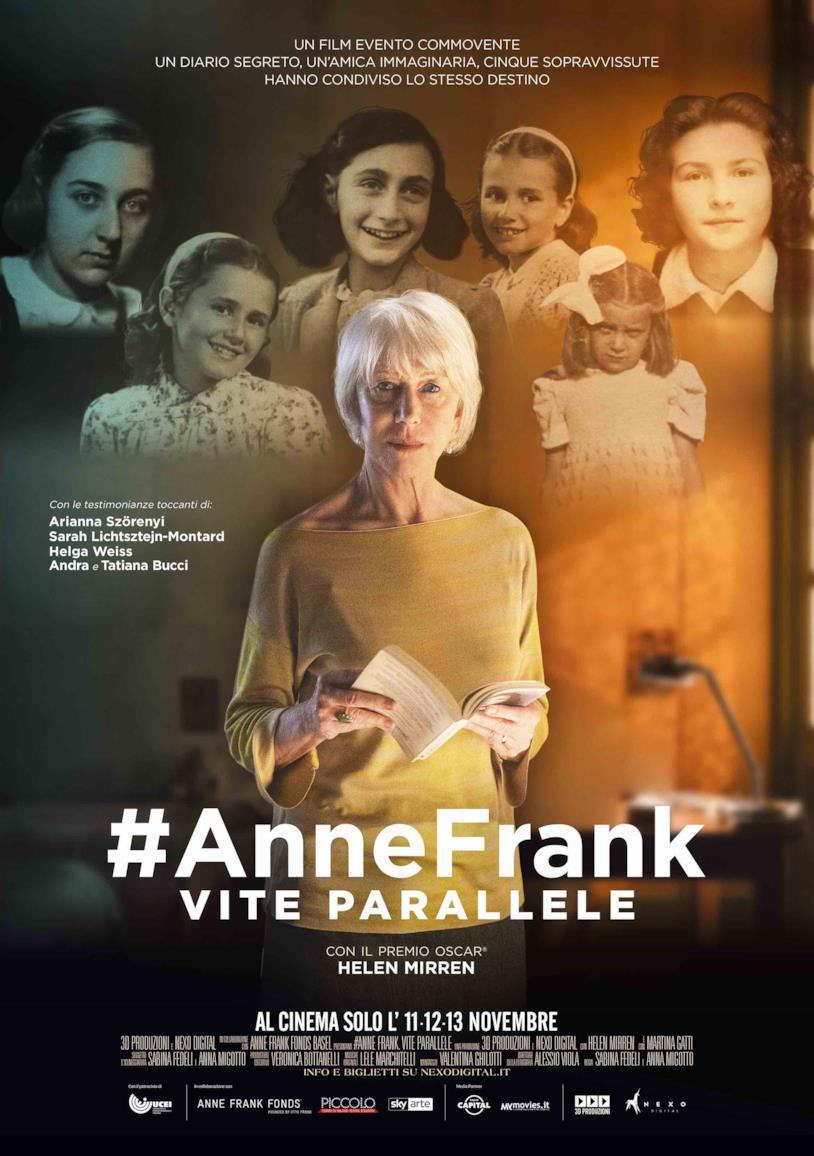 Helen Mirren nel poster di #AnneFrank - Vite parallele