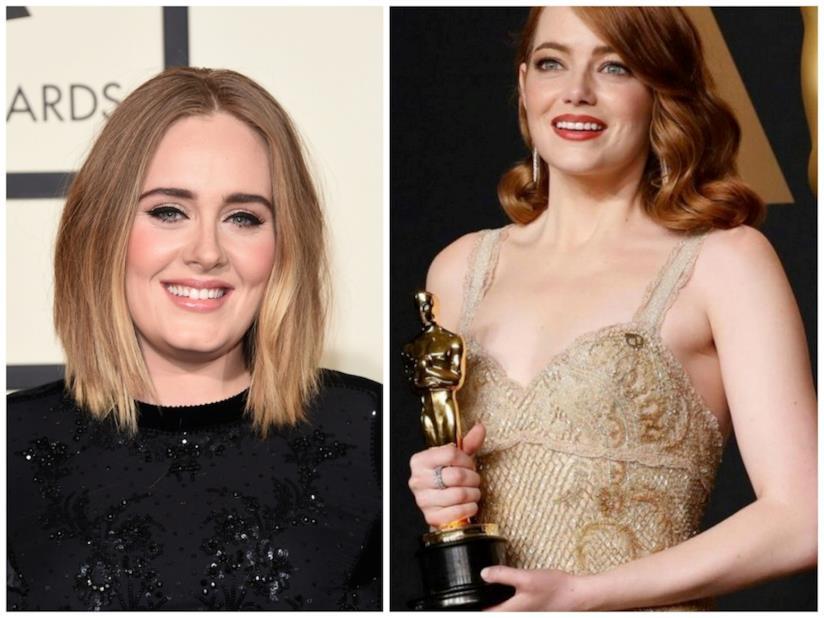 Primo piano di Adele e Emma Stone