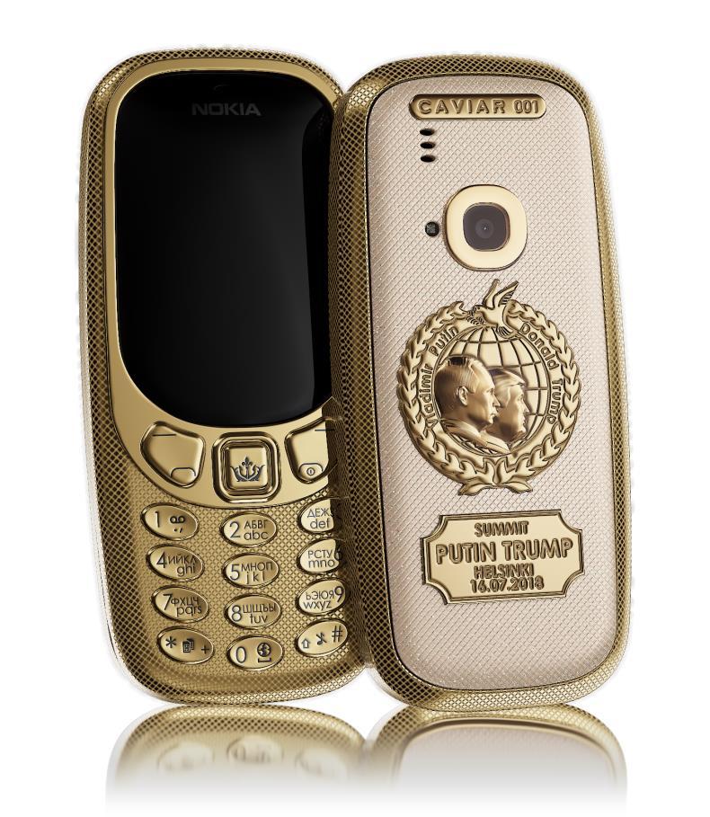 una immagine che mostra il Nokia Custom creato per il meeting Trump - Putin
