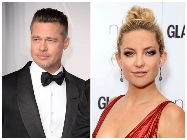 Primo piano di Brad Pitt e Kate Hudson
