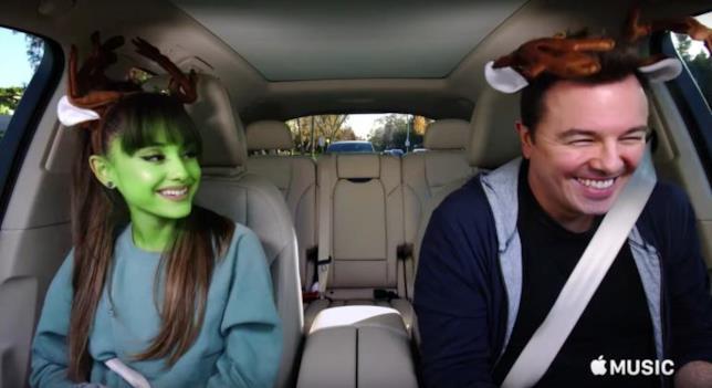 Ariana Grande e Seth MacFarlane per Carpool Karaoke