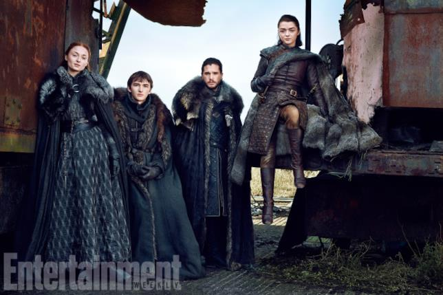 Il cast di Game of Thrones in posa per EW
