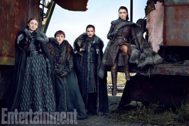 Il cast di Game of Thrones in posa per EW