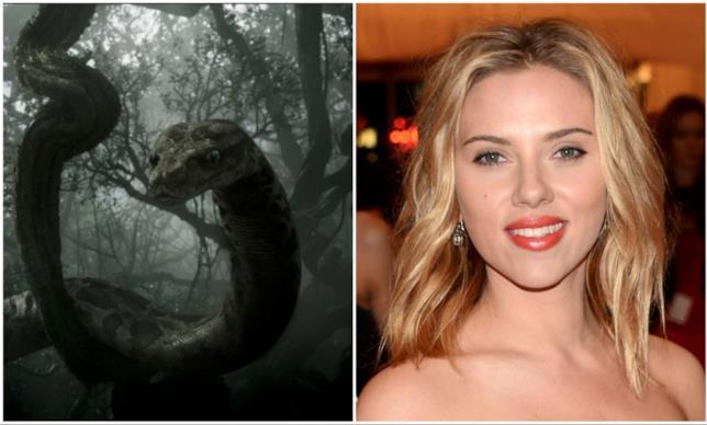 Kaa in un collage con Scarlett Johansson