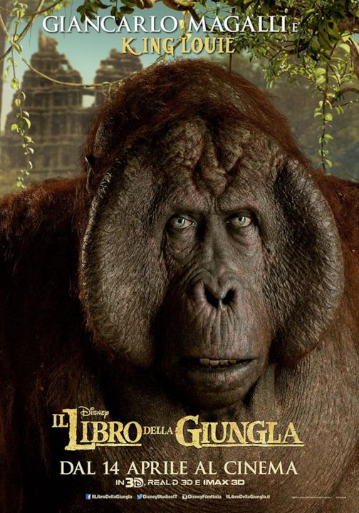 Giancarlo Magalli è King Louie nel character poster italiano