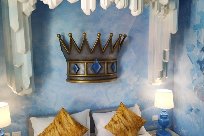 Camera matrimoniale Cristallo Magico con cappello gigante