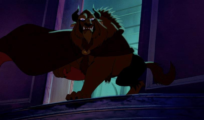 Una scena con la Bestia nel film d'animazione