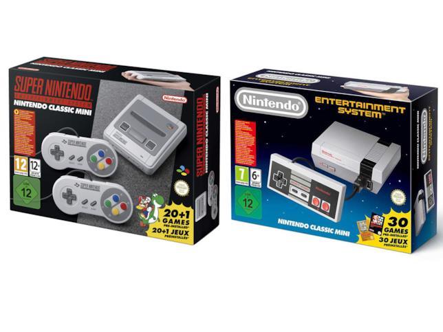 SNES e NES in versione Classic Mini