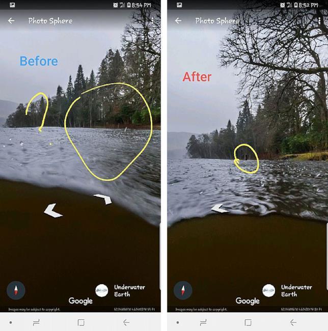Il mostro di Loch Ness su Google Maps