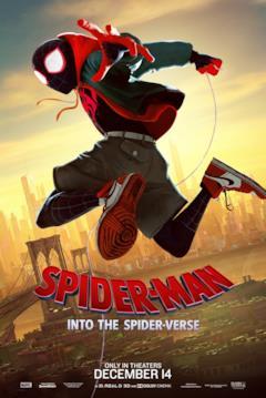 Miles Morales nel poster di Spider-Man: Un nuovo universo dedicato al suo personaggio