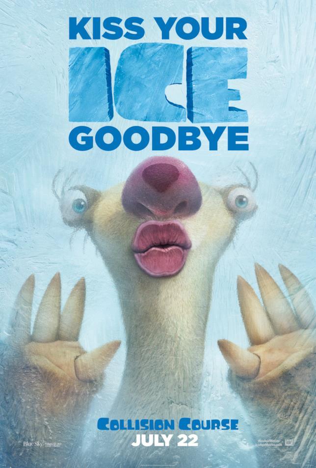 Sid sul nuovo poster dell'Era Glaciale 5