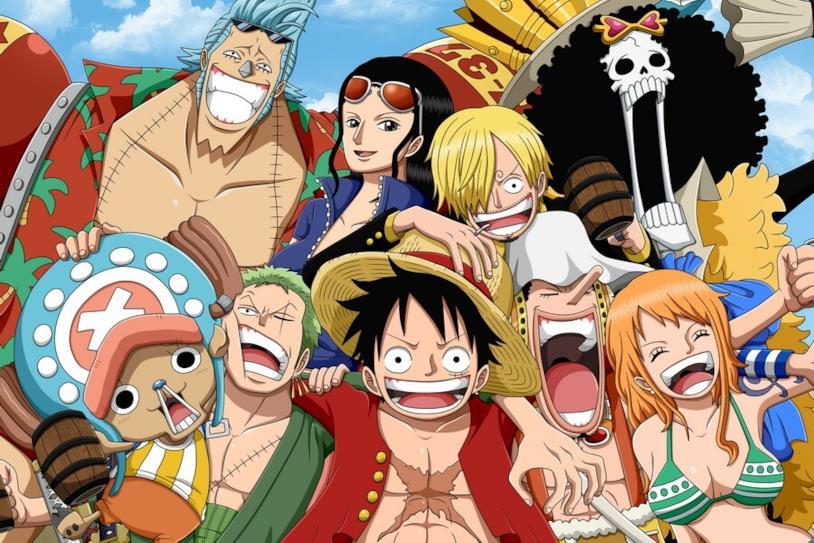 I protagonisti di One Piece che si esprimono in varie smorfie