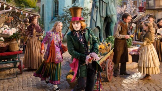 Alice attraverso lo specchio con Johnny Depp e Mia Wasikowska