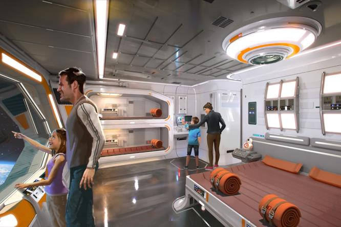 Star Wars: Galactic Starcruiser: le stanze della nuova attrazione