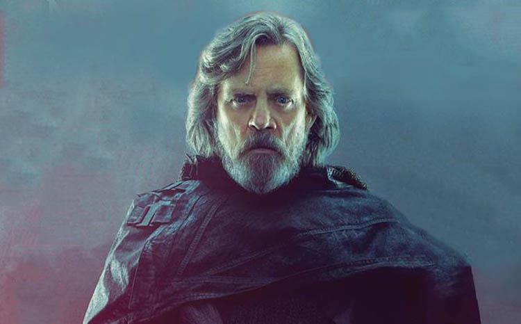Luke Skywalker in un character poster di Star Wars: Gli Ultimi Jedi