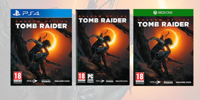 Packshot di Shadow of the Tomb Raider per PS4, XBOX e PC