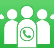 Una rappresentazione di una chiamata di gruppo su WhatsApp