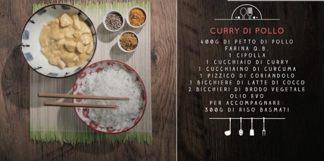 La ricetta del curry di pollo