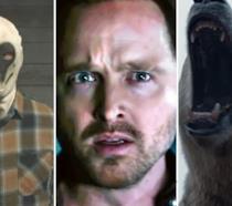 Da sinistra a destra, le immagini dalle serie TV Watchmen, Westworld e His Dark Materials
