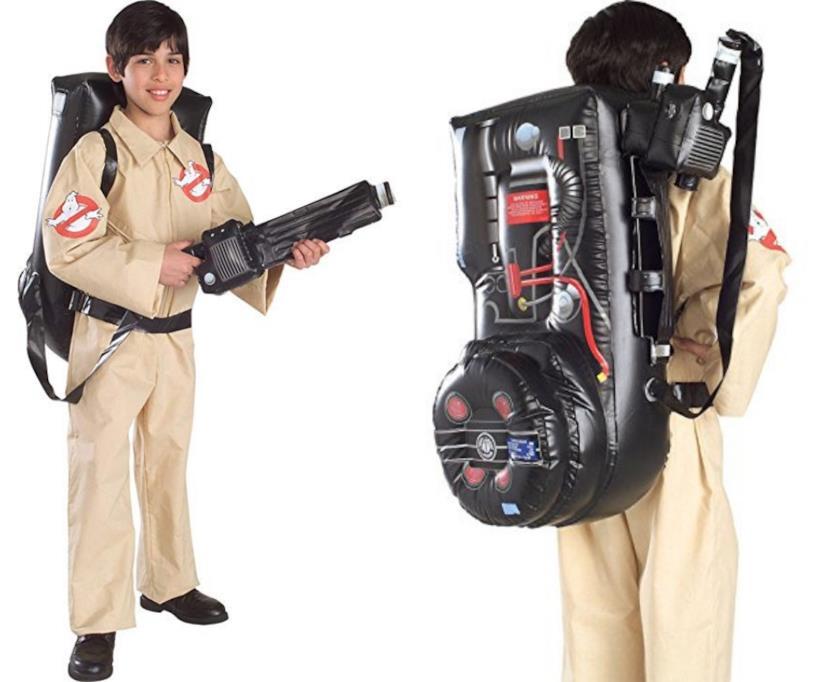 Costume da Ghostbuster con zaino gonfiabile